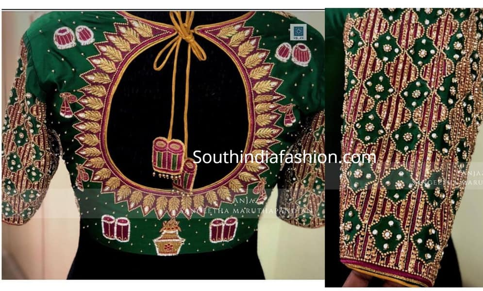 pattu sarees blouse designs 2019