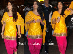 janhvi kapoor in yellow pink patiala suit