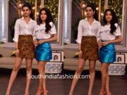 janhvi kapoor and khushi kapoor in mini skirts
