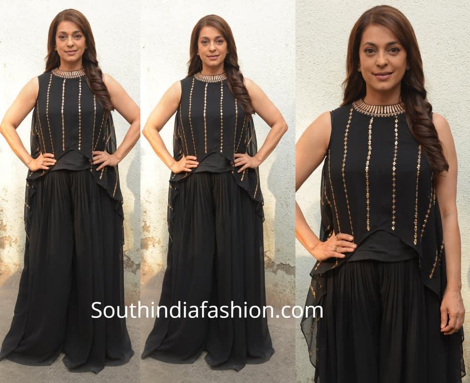 juhi chawla black dress
