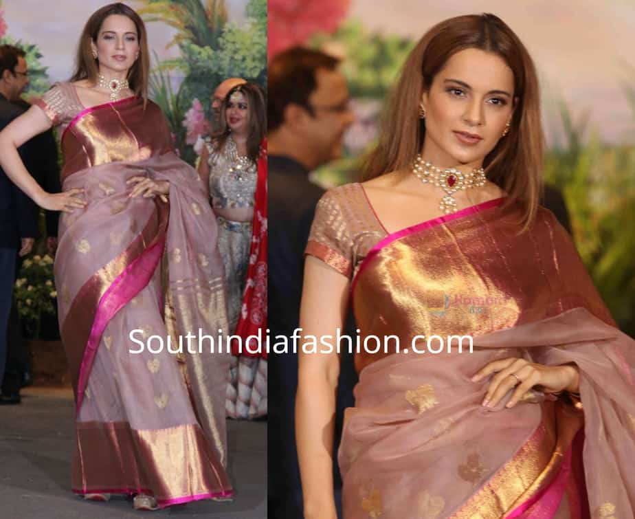 12 Stunning Silk Saree Looks Of Kangana Ranaut