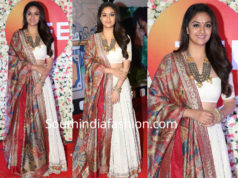 keerthy suresh lehenga at zee cine awards 2019