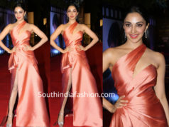 kiara advani peach gown at zee cine awards 2019