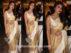 kritika kamra saree at aditi gupta wedding