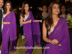 kriti sanon in purple saree