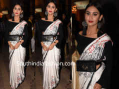 krystle dsouza in white saree at aditi gupta wedding