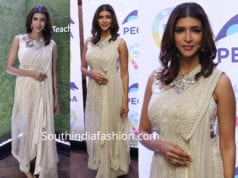 lakshmi manchu in saree gown at teach for change event
