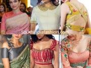 latest saree blouse neck designs 2019