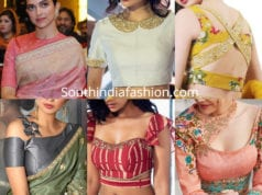 latest saree blouse neck designs 2019