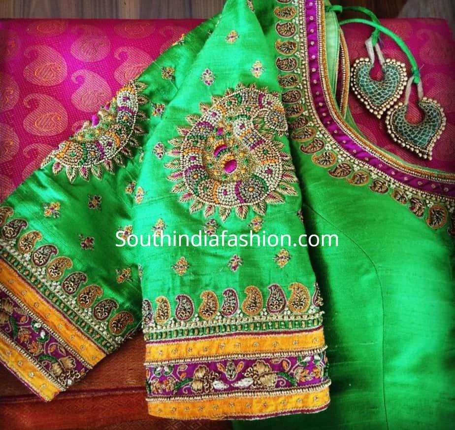 maggam blouse designs 2019