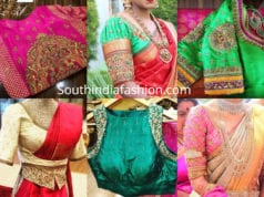 maggam embroidery blous edesigns for pattu sarees by pratiksha