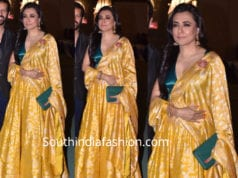 mini mathur yellow lehenga