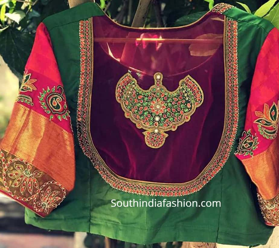 net blouse designs for pattu sarees]