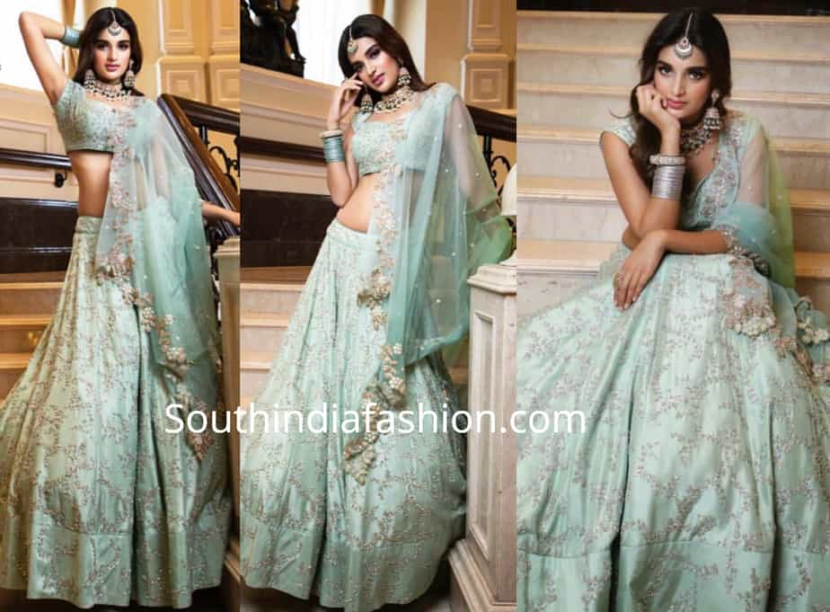nidhhi agerwal in anushree reddy lehenga