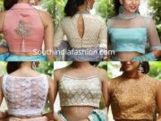 latest party wear saree blouse designs 2019