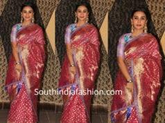 patralekhaa in silk saree at sakshi bhatt wedding reception