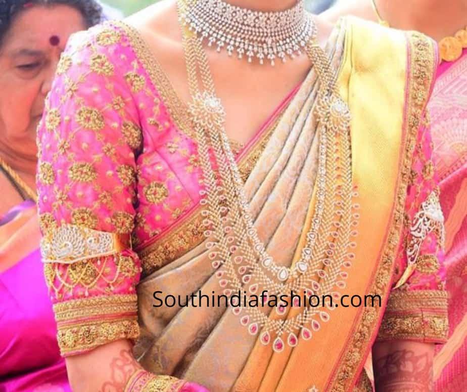 pattu saree blouse designs 2019 by Prathiksha