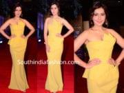 raashi khanna yellow gown zee cine awards 2019
