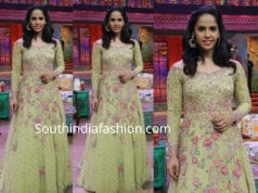 saina nehwal green anarkali gown