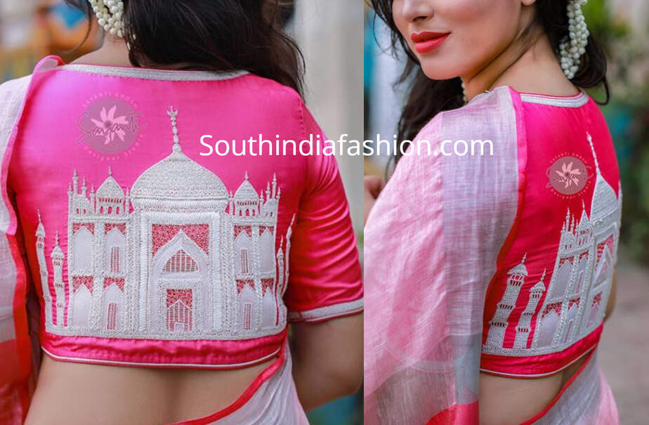 charminar design saree blouse