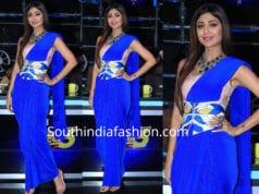 shilpa shetty blue saree gown super dancer