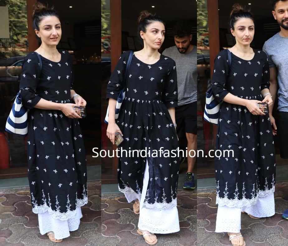 27148059ba Soha Ali Khan's casual ethnic look - Fashion Style