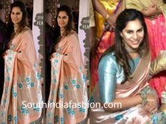 upasana silk saree at rajamouli son wedding