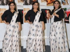 vidya balan in palazzo saree at daboo ratnani calender launch