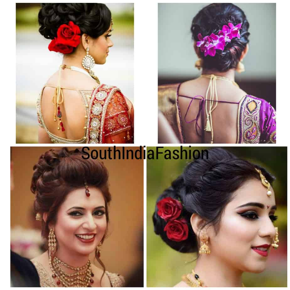 indian wedding hairstyles retro bun