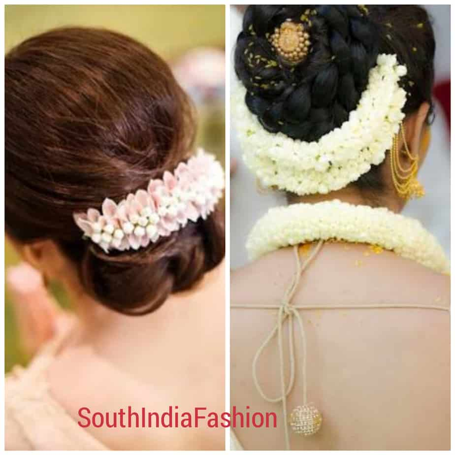 indian wedding flower hairstyles