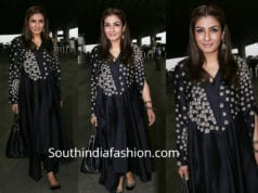 raveena tandon airport black kurta