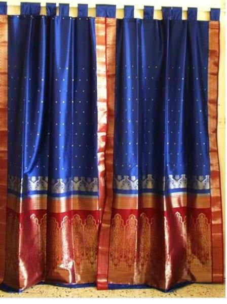 convert sarees into curtains