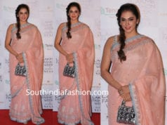 Isha Koppikar in anita dongre saree at lakme fashion week