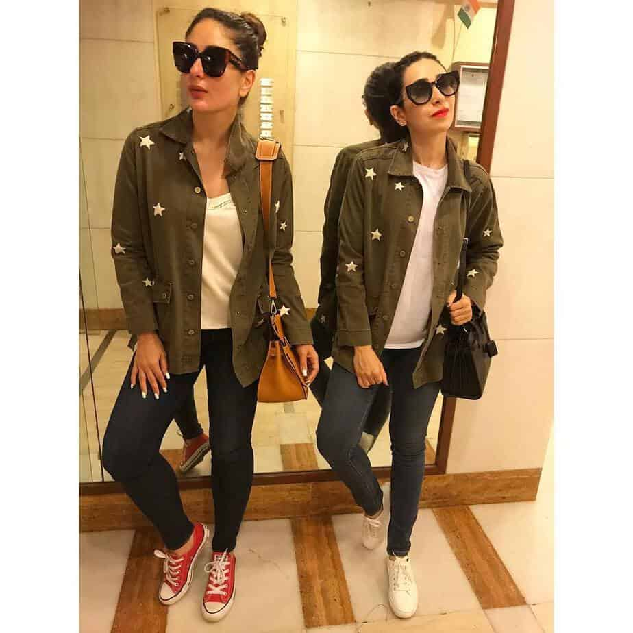 kareena and karishma matching outfits