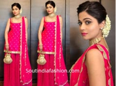 shamita shetty pink sharara suit