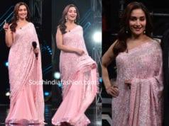 madhuri dixit pink lehenga saree