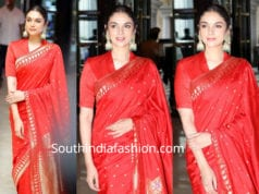 aditi rao hydari in red saree at spoundarya rajinikanth wedding
