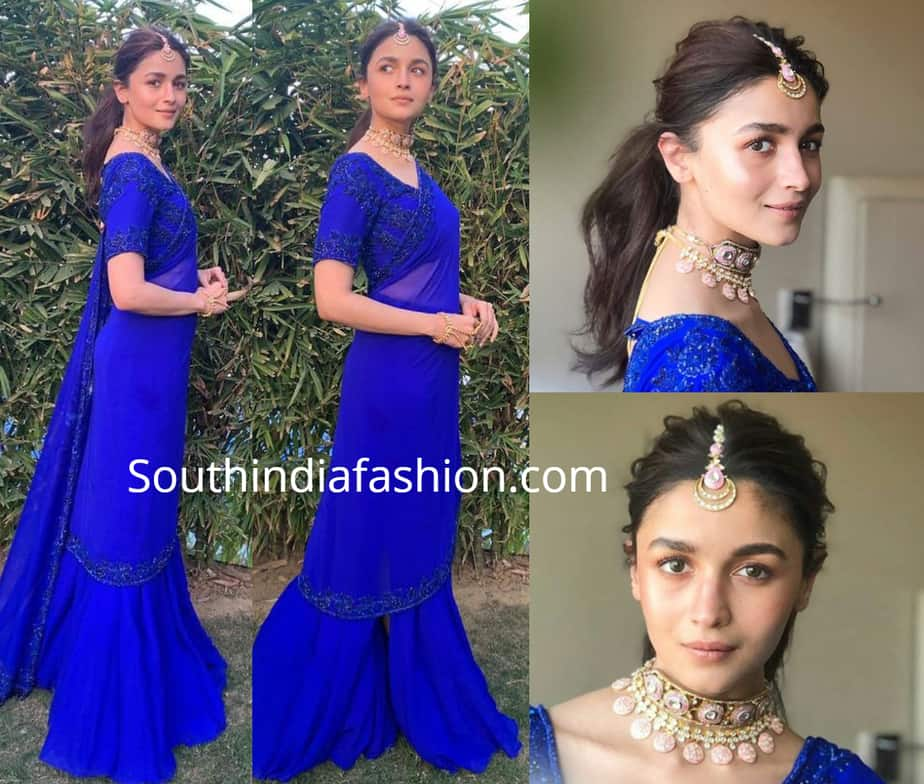 alia bhatt in blue lehenga at her best friend wedding