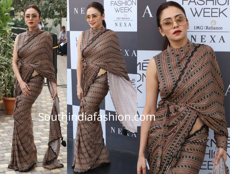 amruta khanvilkar in punit balana saree