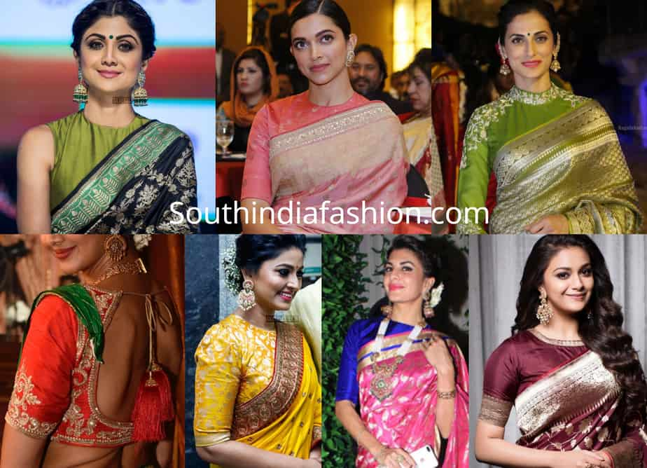 banarasi saree blouse designs