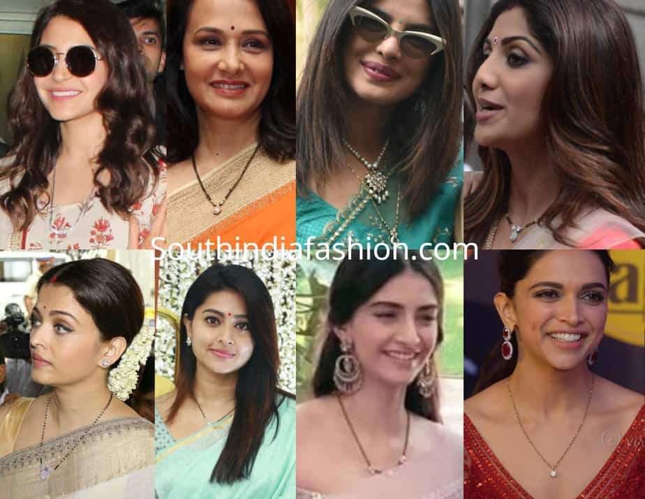 bollywood actresses mangalsutra designs