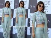 debina bonnerjee at lakme fashion week saree drape