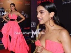 deepika padukone in pink dress at filmfare glamour and style awards 2019
