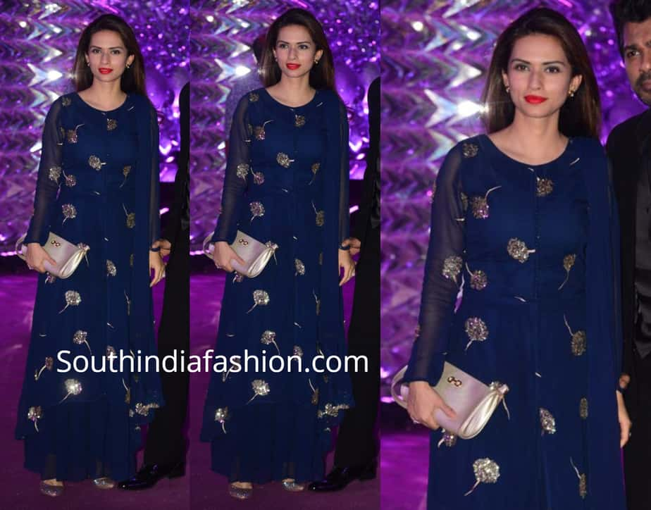 gaurie pandit in blue palazzo suit