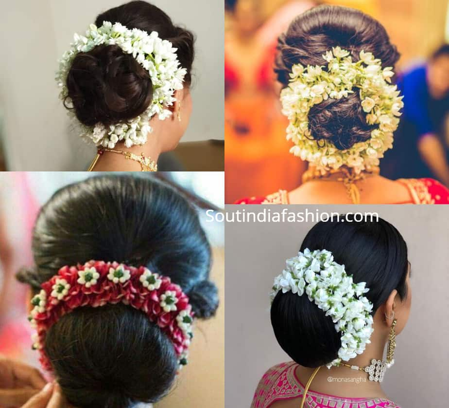 indian gajra bun hairstyles