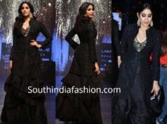 janhvi kapoor in black dress at lakme fashion week 2019