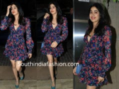 janhvi kapoor in mini dress