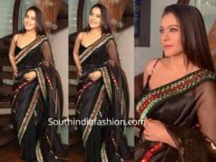 kajol in black saree