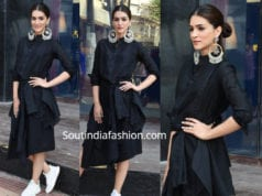 kriti sanon black dress luka chupki promotions