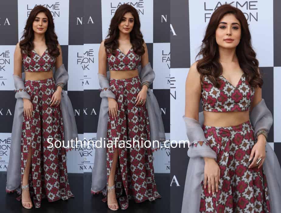 kritika kamra in punit balana printed skirt and crop top